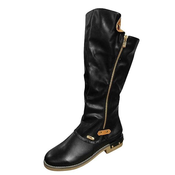 ZARLLE_ Hombre Zapatillas Moda Botas de Mujer de Gran tamaño