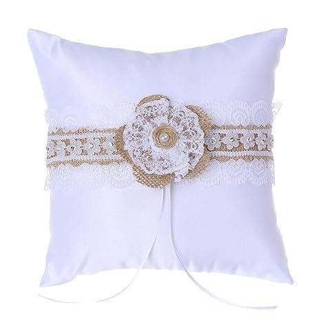 Boda para niña de flores y almohada para portador de anillos ...