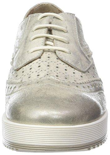 Gris Donna Mujer Ghiaccio Derby 009 Cordones Zapatos para Lucilla de PIU Oqw8arRO