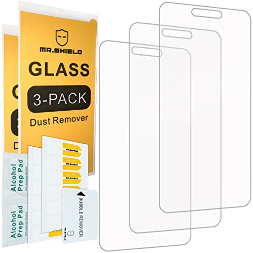 [3-PACK]-Mr Shield For Alcatel Ideal Xcite 4G LTE / Alcatel IdealXcite [Tempered Glass] Screen Protector with Lifetime Replacement Warranty