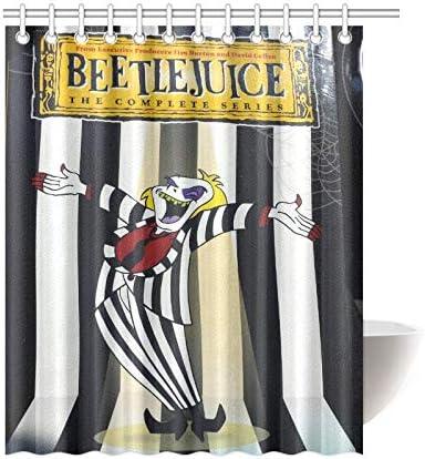 New Custom Beetlejuice Strange and Unusual Waterproof Shower Curtain 60/'/'x72/'/'