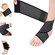Elastic Knee Brace Compression Bandage Wrap Support for Legs, Plantar Fasciitis, Stabilising Ligaments, Joint Pain…