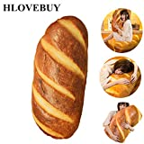 HLovebuy Funny 3D Simulation Bread Shape Pillow,Soft Lumbar Back Cushion Plush Stuffed Toy for Home Decor (Butter Bread,23.6inch)