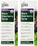 Gaia Herbs Black Elderberry Syrup (2 bottles of 5.4 Fluid Ounces)