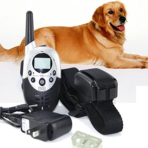 MANZOKU US Waterproof 1000 Yards Rechargeable Wireless LCD Remote Control Pet Dog Training Collar 8 Levels of Vibration and Shock for Medium or Large Dog Trainer Control Review