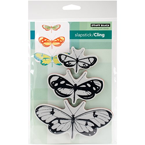 Penny Black Butterfly Trio Cling Unmounted Rubber Stamp (40-473)