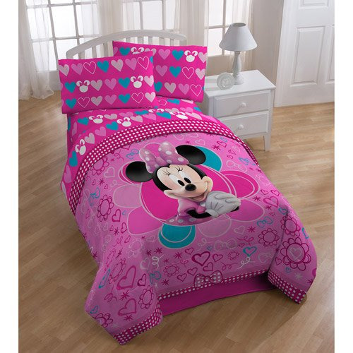 minnie mouse full bedding set amazoncom - Minnie Mouse Bed Set