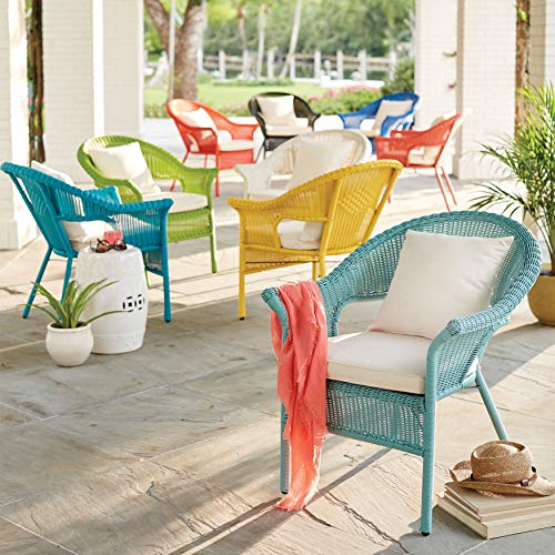 BrylaneHome Roma All-Weather Wicker Stacking Chair - Haze