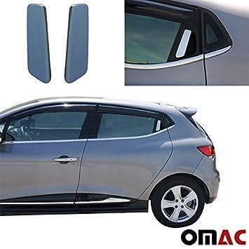 Protección para el tirador de las puertas traseras del Renault Clio IV, 2 piezas de acero inoxidable, cromadas: Amazon.es: Coche y moto