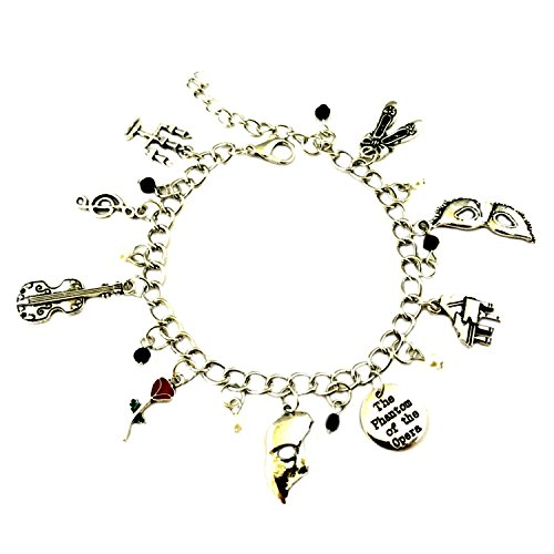 Superheroes Brand Phantom of the Opera Broadway Musical Charm Bracelet Jewelry Series w/Gift (Opera Musical Jewelry Box)