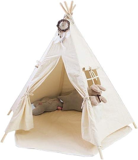 Juguete tienda canadiense Zona de juegos imaginativos que acampan Juegos y regalos, seis postes de madera de los niños tienda del juego de juguete for los niños de los indios norteamericanos, niño