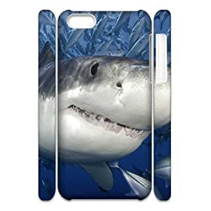 LZHCASE Diy 3D Protection Hard Case Shark For Iphone 5C [Pattern-1]
