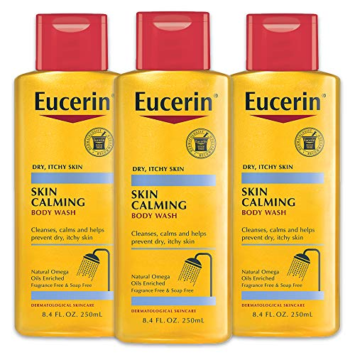 Eucerin Skin Calming Body Wash - Cleanses and Calms to Help Prevent Dry, Itchy Skin - 8.4 fl. oz. Bottle (Pack of 3) (Best Cleansing Oil For Sensitive Skin)