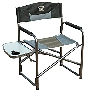 1. Timber Ridge Aluminum Portable Director's Folding Chair with Side Table Supports 300lbs