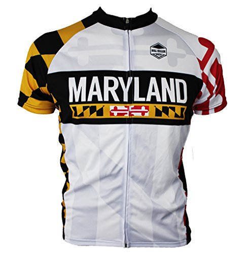 Jersey Cycling Maryland - Hill Killer Apparel Maryland 2.0 Cycling Jersey (X-Large)