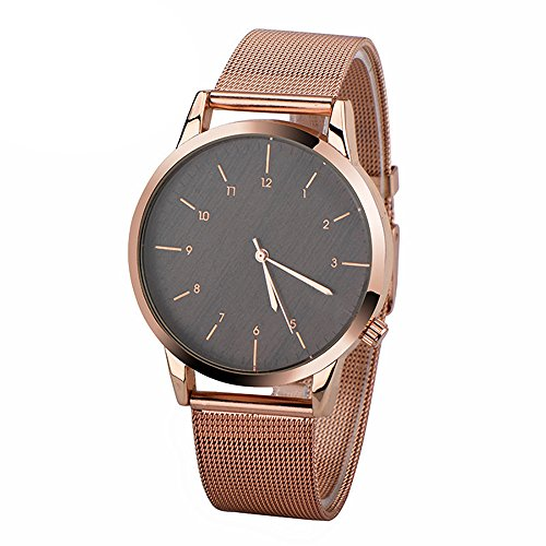 Womens Manual Winding Watch - MJARTORIA Unisex Mechanical Manual Winding Watch Sports WristWatch(Mesh Number Scale,Rose Gold Color Style 2)