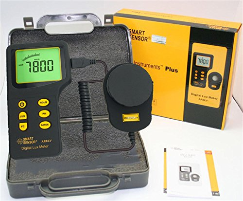 AR823+ Digital Light Meter Tester Data Logger Lux Meter Illuminometer Measurement Range 1 to 200,000 Lux