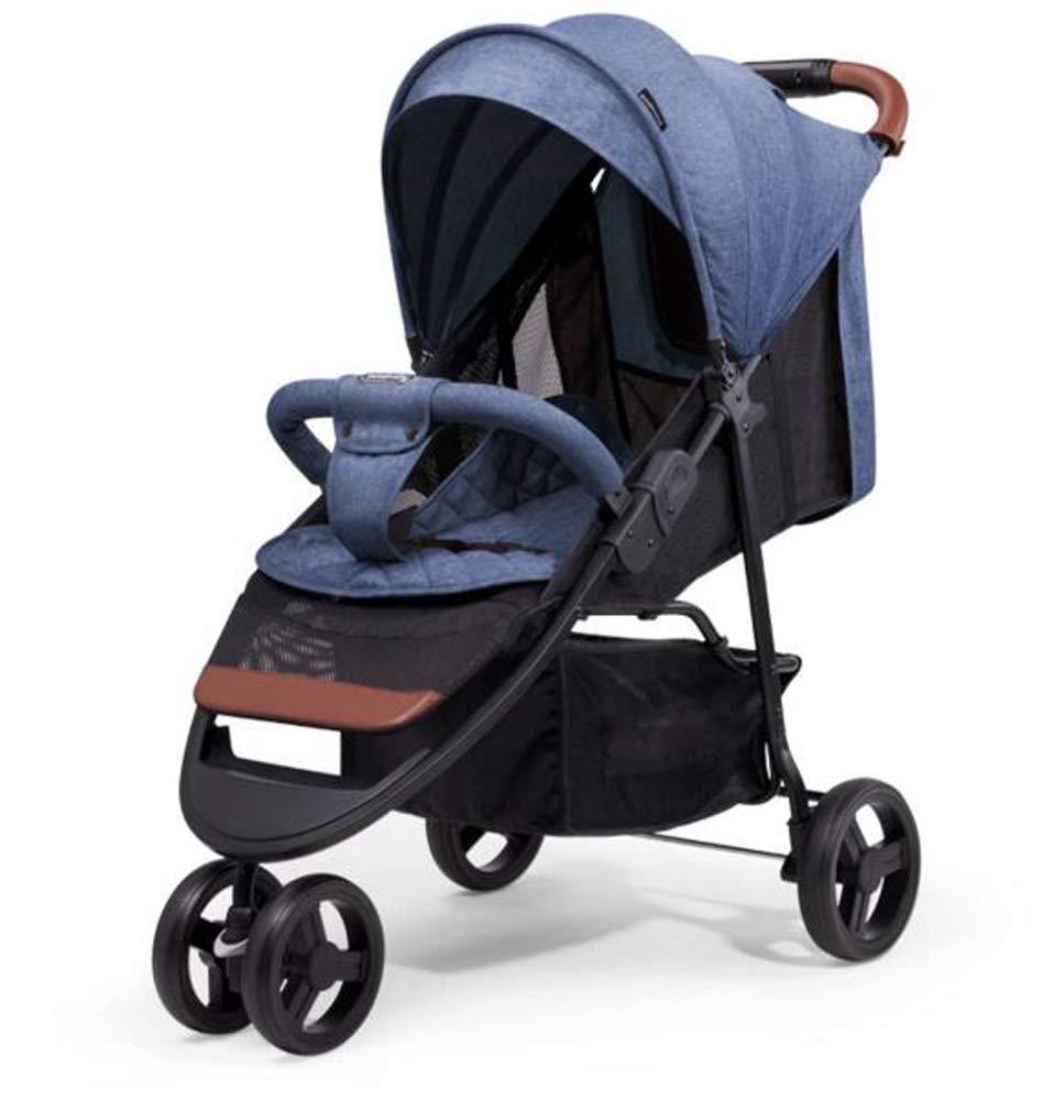 MASTORE ベビーカー B型 ハイシート 軽量 折りたたみ アルミフレーム 高級感 快適乗り心地 コンパクト 6ヶ月~3歳頃対象 出産祝い 子供 誕生日 ギフト (ネイビー)  ネイビー B07R7P4TM5