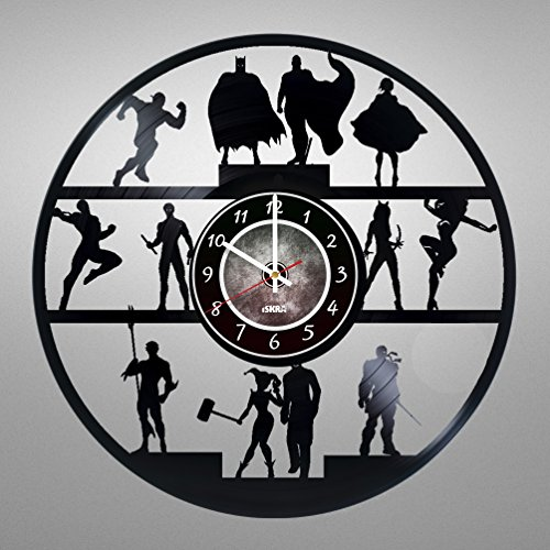 Vinyl Record Wall Clock specially for Comics Books Fans - Get unique living room wall decor - Gift ideas for friends, teens, children, men and women, boys and girls - (Raven Dc New 52)