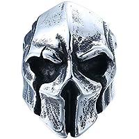 Cool Big Punk Biker Skull Ring For Man Stainless Steel Unique Punk