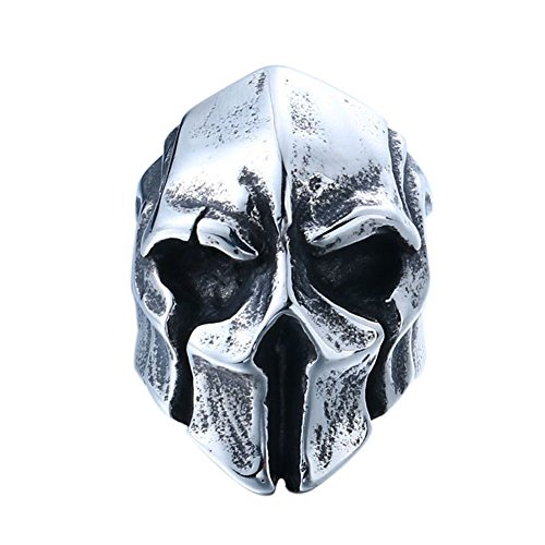 4ZOM Cool Big Punk Biker Skull Ring For Man Stainless Steel Unique Punk