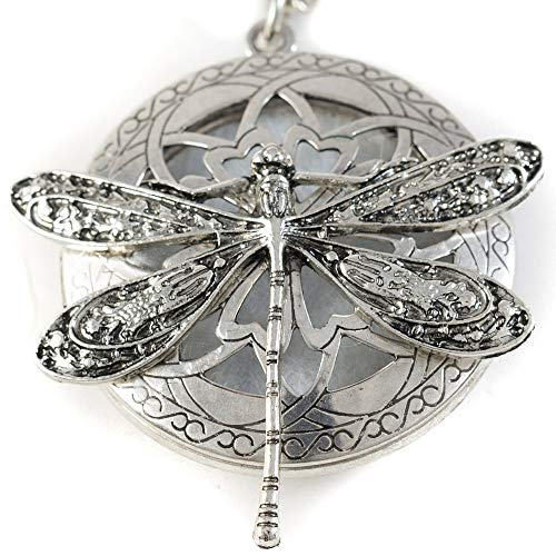 (Soul Statement Diffuser Necklace: Essential Oil Necklaces for Women Aromatherapy Locket Charm (Dragonfly))
