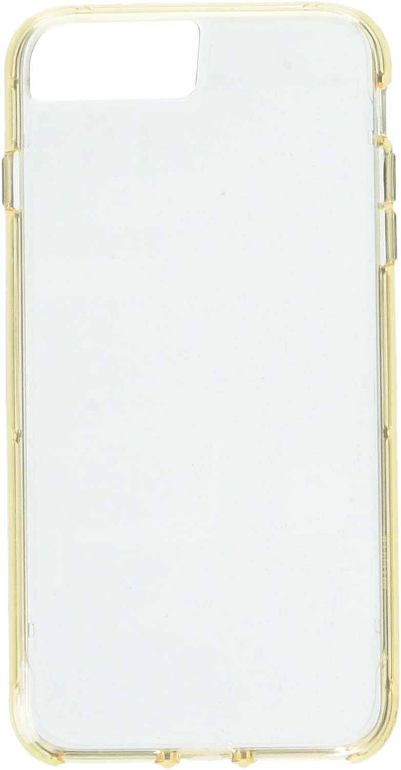 iPhone 7 Plus Clear Protective Hard Shell Case, Survivor Clear, Clear/Gold