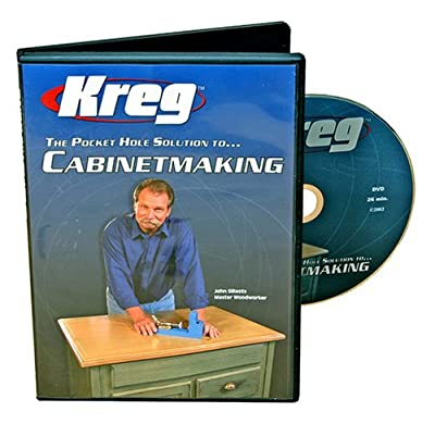 Kreg V03-DVD Pocket Hole Joinery DVD, Cabinet Making from Kreg