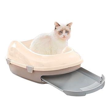SuyunPP Caja De Arena para Gatos Desodorante Completamente Cerrado Tipo De Cajón Inodoro para Gatos Contenedor