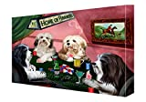 House of Havanese Dogs Playing Poker Canvas 18 x 24
