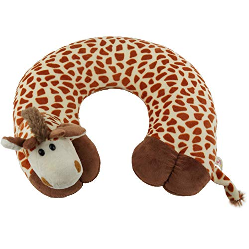 ComfoLUX Animal Neck Travel Pillow for Kids and Adults - Gir