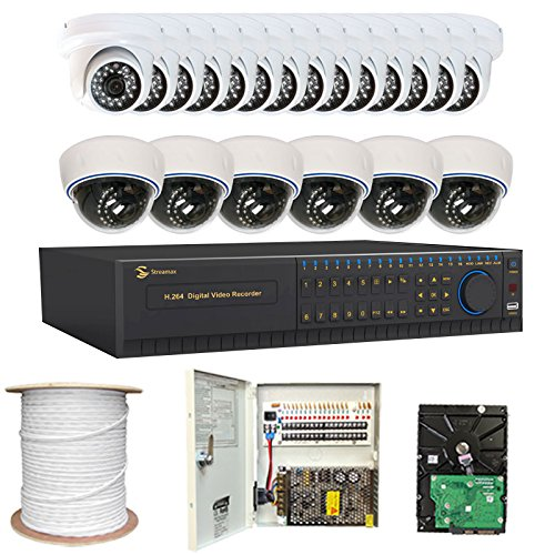 Professional 32 Channel H.264 960H Realtime DVR Security Camera System with 20 x 1/3″ SONY SUPER HAD CCD II Camera, 700 TV Lines. One is 3.6mm Lens, 24 IR LEDs, 65.6 feet IR Distance and one is 2.8~12mm Manual Varifocal lens, 30 IR LEDs, 49 feet IR Distance