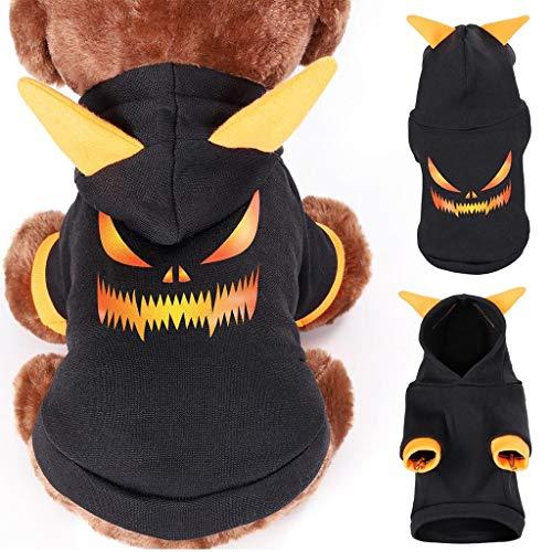 MiMiey Wintermäntel für kleine Hunde Fleece Warm Hundepullover Sweater Welpen Winterjacke Katze Kleidung Haustier Jungen Mädchen Hundebekleidung (M, Black)