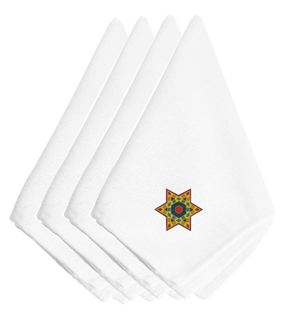 Caroline 's Treasures embt2990npke Hanukkah Star of David刺繍ナプキン( Set of 4 )、20インチ、マルチカラー   B01KTJH6F8