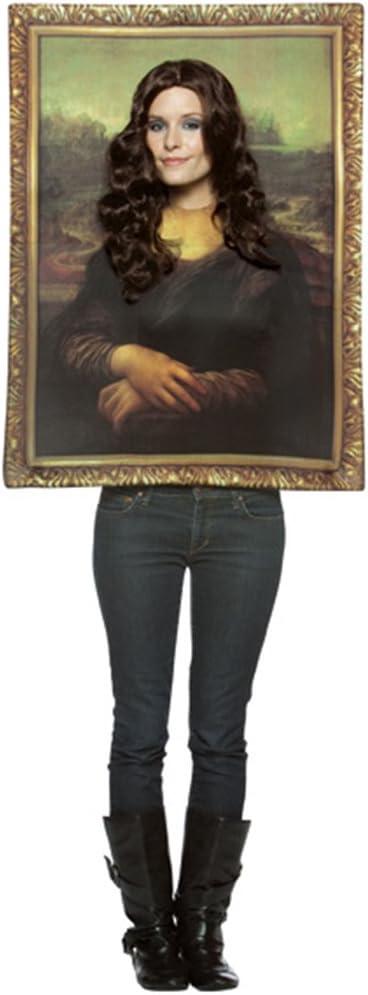 Desconocido Disfraz de cuadro de la Gioconda para adulto: Amazon ...