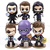 PUNIDAMAN Infinity Doctor Strange Bucky Barnes Figures Toys Car Decoration 6Pcs/Set Thing You Must Have 6 Year Old Girl Gifts The Favourite Superhero UNbox Switch