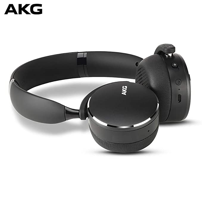 AKG Y500 On-Ear Foldable Wireless Bluetooth Headphones - Black (US Version)