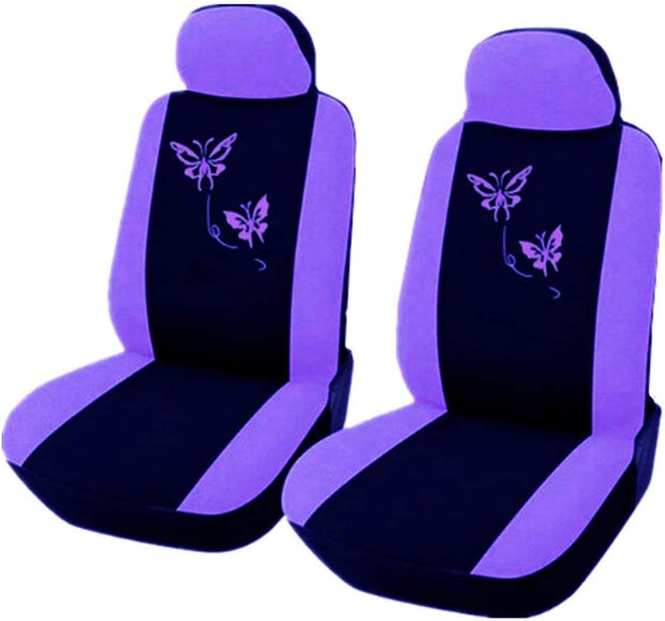 Candybarbar Car Seat Cover Purple Pink Butterfly Embroidery Suitable For Women 4 Pcs 9 Pcs Set Composite Sponge Inside