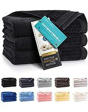 ZWOLTEX Niebiańsko miękkie ręczniki ze 100% egipskiej bawełny I Made in EU I ręczniki dla gości bardzo miękkie ręczniki kąpielowe ręcznik kąpielowy - zestaw 3 ręczników