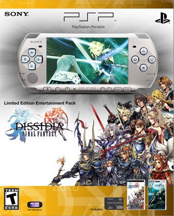 Psp Silver Video Game - PSP 3000 Dissidia Final Fantasy Entertainment Pack - Silver