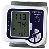 Blood Pressure Wrist Cuff Monitor Automatic Digital Sphygmomanometer DigiPulse by Just-Brill BP Machine Measures Pulse, Diastolic and Systolic Accurate Meter Large LCD Display High Normal and Low