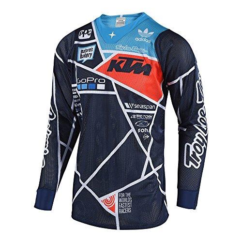 Troy Lee Designs Men's Off-Road Motocross Motorcycle SE Air Metric Jersey (Navy/Orange, - Troy Lee Designs Motorcycle