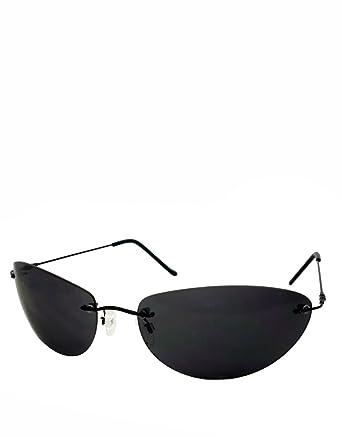 Neo Style Sonnenbrille, Rahmenlos / Rauchfarbene Gläser