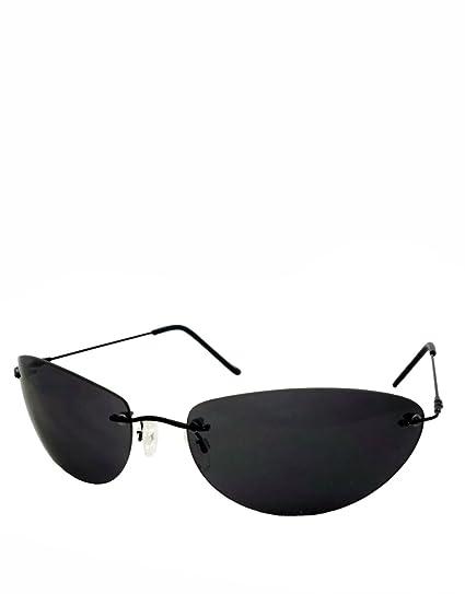 Gafas estilo neoclásico, sin borde / lentes ahumadas