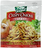 Fresh gourmet Crispy Onions, Lightly Salted, 3.5-Ounce (Pack of 6)