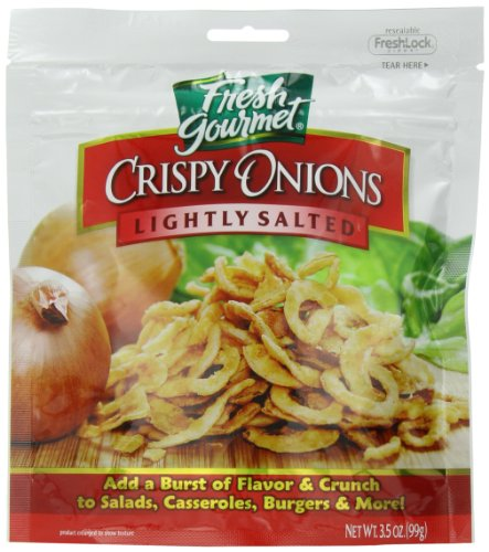 Fresh Gourmet Crispy Onions, Lightly Salted, 3.5 Ounce (Pack of 6) ()