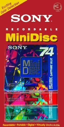 74 Minutes 3 Pack Sony Recordable Mini Disc