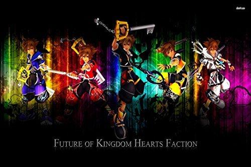 Kingdom Hearts 2 3 Sora Organization XIII 13 Nice Silk Fabri
