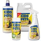 KIDS N PETS Carpet Cleaning 4 pack! Contains: 2x Carpet and Upholstery Concentrate 48 oz., KIDS N PETS Stain and Odor Remover with sprayer 16 oz., KIDS N PETS Stain and Odor Remover Refill 32 oz., KIDS N PETS Deep Clean Carpet Powder Spring Green 16 oz., My Pet Supplies