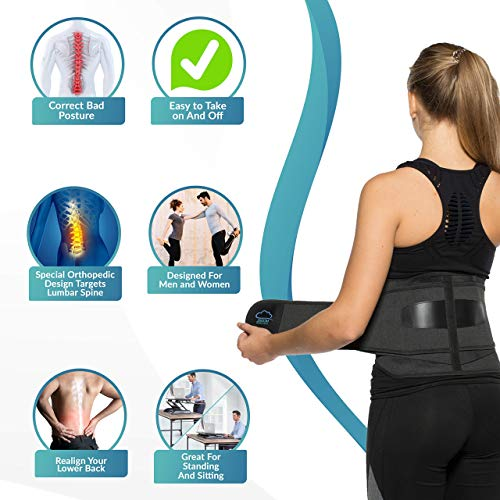 """MODVEL Lower Back Lumbar Support Brace for Men & Women 